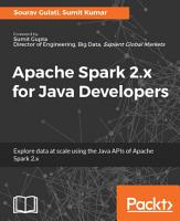 Apache Spark 2 x for Java Developers PDF