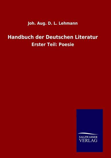 Handbuch der Deutschen Literatur PDF