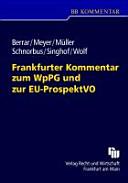 Frankfurter Kommentar zum WpPG und zur EU ProspektVO PDF