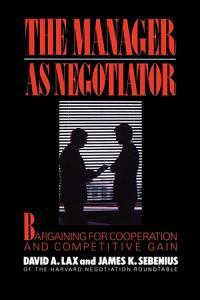 Manager as Negotiator Book