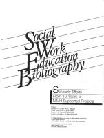 Social Work Education Bibliography PDF