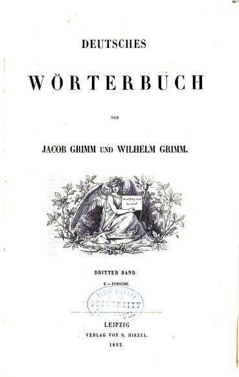 Deutsches W  rterbuch  Bd  E Forsche  1862 PDF