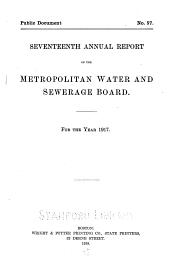 Annual Report of the Metropolitan Water and Sewerage Board ...