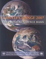 Climate Change 2007   The Physical Science Basis PDF