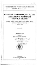 Municipal ordinances, rules
