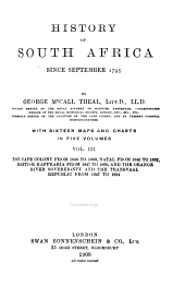 History of South Africa Since September, 1795: Volume 3