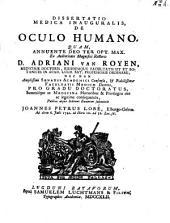 Dissertatio medica inauguralis, de oculo humano: Volume 1