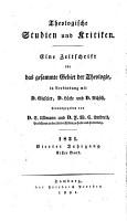 Theologische Studien und Kritiken  in Verbindung mit D  Gieseler  D  L  cke und D  Nitzsch herausg  von C  Ullmann und F W C  Umbreit PDF