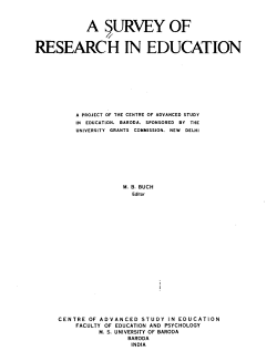 A Survey of Research in Education PDF
