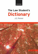 The Law Student s Dictionary PDF