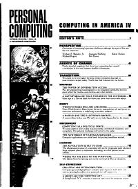 Personal Computing