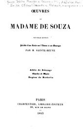 Œuvres de Madame de Souza