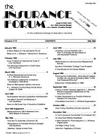 The Insurance Forum PDF