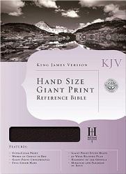 Hand Size Giant Print Reference Bible Kjv Book PDF