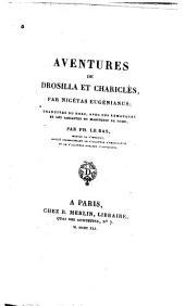 Aventures de Drosilla et Chariclès: traduites du Grec, avec des remarques et les variantes du manuscrit de Rome