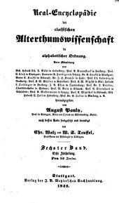 Pauly's Real-Encyclopädie der classischen Altertumswissenschaft in alphabetischer Ordnung: Pra - Stoiai, Band 6,Ausgabe 1