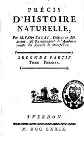 Précis d'histoire naturelle: Volume2,Partie1