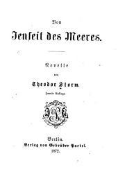Von Jenseit des Meeres: Novelle