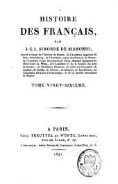 Histoire des Français: Volume26