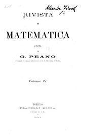 Rivista di matematica: Volume 4