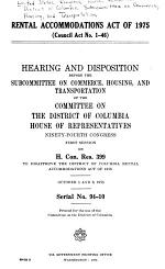 Rental Accommodations Act of 1975 (Council Act No. 1-46)