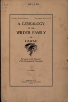 A Genealogy of the Wilder Family of Hawaii PDF