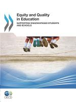 Equity and Quality in Education Supporting Disadvantaged Students and Schools PDF