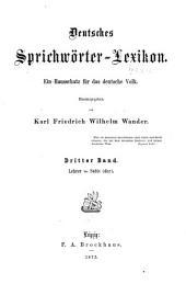 Deutsches sprichwörter-lexikon: Band 3