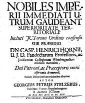 Nobiles Imperii immediati, utrum gaudeant superioritate territoriali?