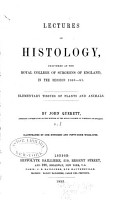 Lectures on Histology PDF