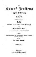 Der kampf Italiens gegen Oesterreich im jahre 1848 PDF