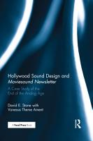 Hollywood Sound Design and Moviesound Newsletter PDF