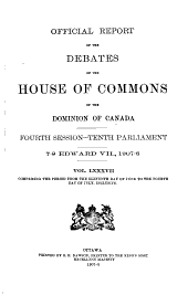 Official Report of the Debates of the House of Commons of the Dominion of Canada: Part 6