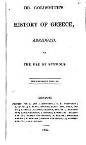 History of Greece: Abridged, for the Use of Schools
