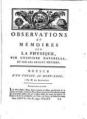 Observations et Memoires sur la Physique, sur L'Histoire Naturelle et sur les Arts et Métiers: avec des planches en taille - douce, ..., Volume37