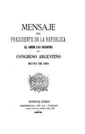 Mensaje ...: Volumen 1872
