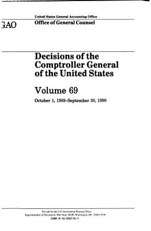 Decisions of the Comptroller General of the United States PDF
