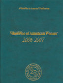 Who s Who Of American Women 2006 2007 PDF