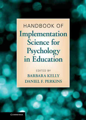 Handbook of Implementation Science for Psychology in Education PDF