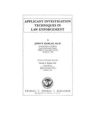 Applicant Investigation Techniques in Law Enforcement PDF