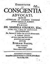 Dissertatio De Conscientia Advocati