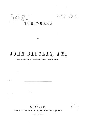 The Works of John Barclay