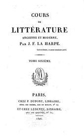 Cours de littérature ancienne et moderne: Moyen âge