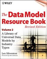 The Data Model Resource Book  Volume 2 PDF