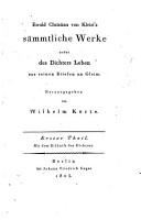 Ewald Christian von Kleist s s  mmtliche Werke nebst des Dichters Leben aus seinen Briefen an Gleim PDF