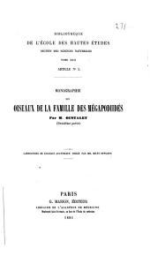 Monographie des oiseaux de la famille des mégapodiidés: Volume2