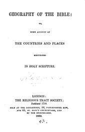 Geography of the Bible, by J.W. and J.A. Alexander
