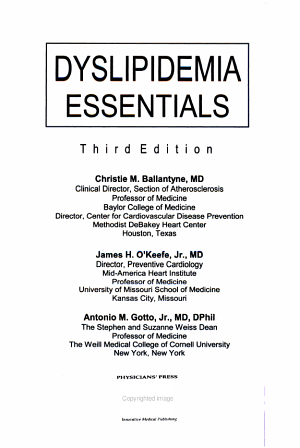 Dyslipidemia Essentials PDF