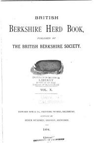 British Berkshire Herd Book PDF