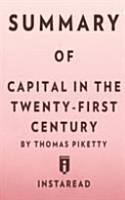 Summary of Capital in the Twenty First Century PDF
